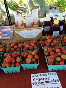 strawberries and honey